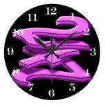 24 7 - veinticuatro siete - texto rosado relojes