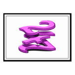 24 7 - veinticuatro siete - texto rosado plantilla de tarjeta de negocio