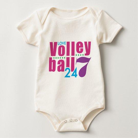 24/7 Volleyball Baby Bodysuit