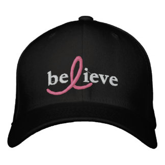 ($24.95) Believe Breast Cancer Ribbon Hat