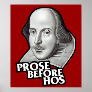 $24,95 Prosa hilarante antes del poster de Hos