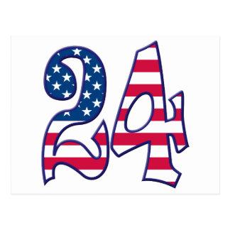 24 Age USA Postcard