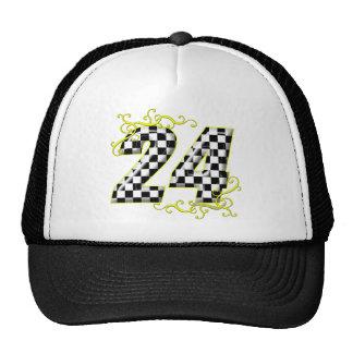 24 amarillos del número de la bandera de los inspe gorras