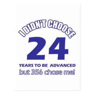 24 años de adelanto postales