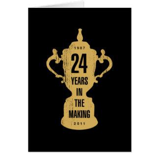24 años en la fabricación para NZ Tarjeta De Felicitación