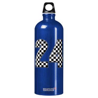 24 auto racing aluminum water bottle