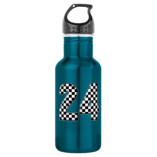 24 auto racing stainless steel water bottle