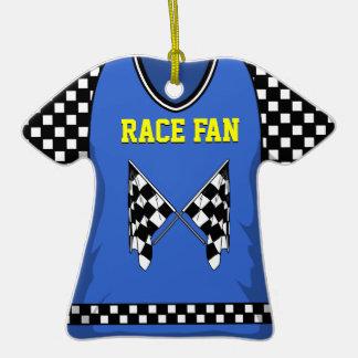 #24 azul/amarillo de la bandera de la raza ornamentos de reyes magos