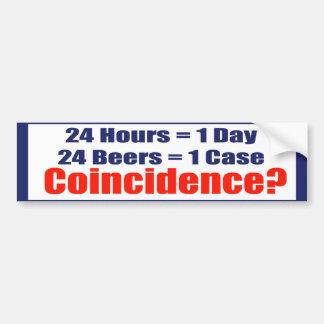 24 Beers Coincidence Bumper Sticker