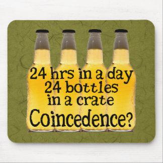 24 botellas de cerveza mousepads