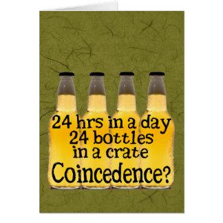 24 botellas de cerveza tarjeta de felicitación