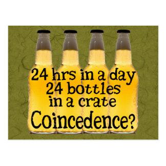 24 botellas de cerveza tarjetas postales