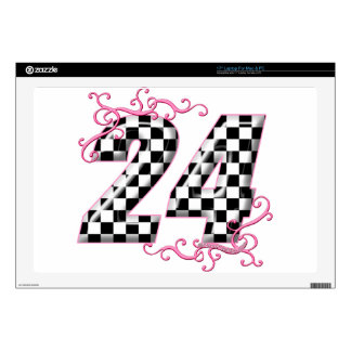 "24 checkers flag number 17"" laptop skin"