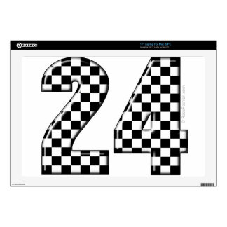 24 checkers flag number decals for laptops