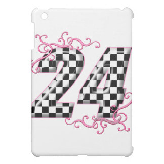 24 checkers flag number iPad mini cases