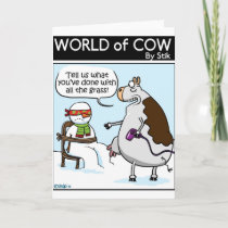 24 Cow stylee Holiday Card