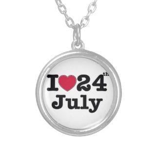 24 de julio mi día de cumpleaños colgante redondo