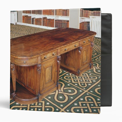 24:Desk by Thomas Chippendale Jr, 1805 3 Ring Binders