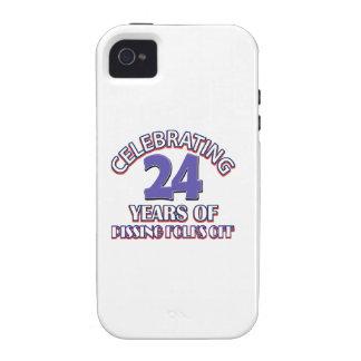 24 diseños DIVERTIDOS del cumpleaños del año iPhone 4 Carcasas