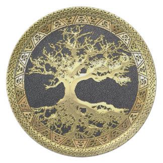 [24] Golden Celtic Tree of Life Plate
