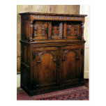 24:Hall cupboard, oak, c.1600 Postcard
