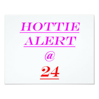24 Hottie Alert Card
