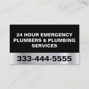24 hour business cards zazzle 24 hour emergency plumbers plumbing services business card colourmoves
