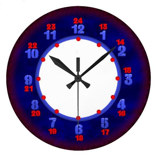 24 Hour Military Time Clock Template Zazzle Com