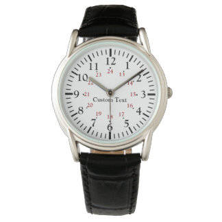 24 Hour Military Time Personalized Watch