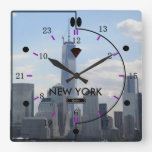 24 hour Time Zone Picture Wall Clock (NY-B)