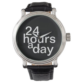 24 hours a day wristwatches