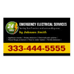 24 Hours Emergency Electrical Service - Two Sided Double-Sided Standard Business Cards (Pack Of 100)
