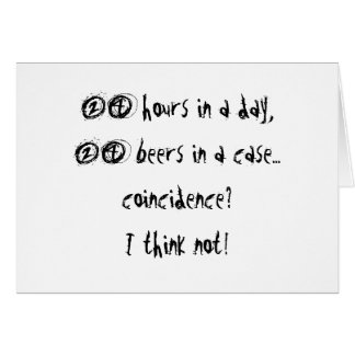 24 Hours In A Day Card
