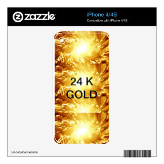 24 K Gold iPhone 4S Decal