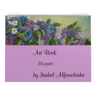 24 libros del arte de las impresiones calendarios de pared