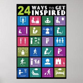 24 MANERAS DE CONSEGUIR INSPIRADO PÓSTER
