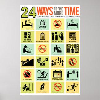 24 maneras de encontrar más tiempo póster