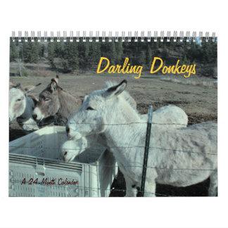 24-Month Darling Donkey Calendar
