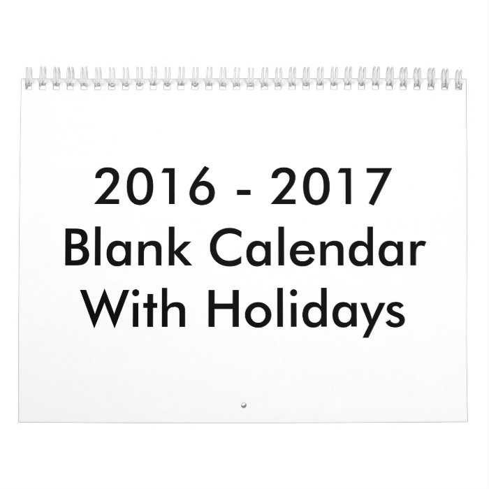 December 2016 January 2017 Kitchen Of The Month: 24 Months Blank Calendar 2016 - 2017 With Holidays