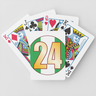 24 NIGERIA Gold Bicycle Playing Cards