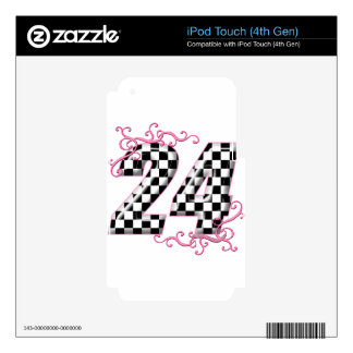 24 números de la bandera de los inspectores iPod touch 4G skins