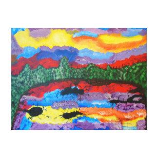 """24"""""""" pintura de acrílico del tamaño x18 de la lona estirada galerías"""