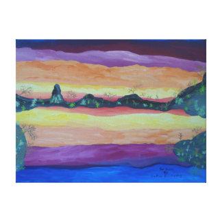 """24"""""""" pintura de acrílico del tamaño x18 de la lona envuelta para galerias"""