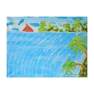 """24"""""""" pintura de acrílico del tamaño x18 de la impresion de lienzo"""
