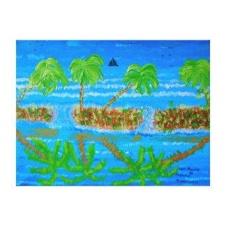 """24"""""""" pintura de acrílico del tamaño x18 de impresión en lienzo estirada"""