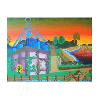 """24"""""""" pintura de acrílico del tamaño x18 del """"lugar lona envuelta para galerias"""