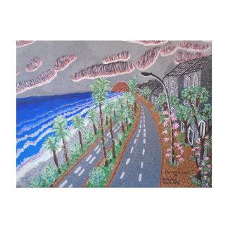 """24"""""""" pintura de acrílico del tamaño x18 """"que busca lienzo envuelto para galerías"""