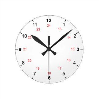 24 relojes de pared de la hora