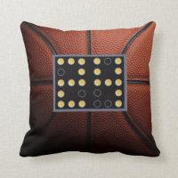 24 Second Shot Clock Basketball Pillow