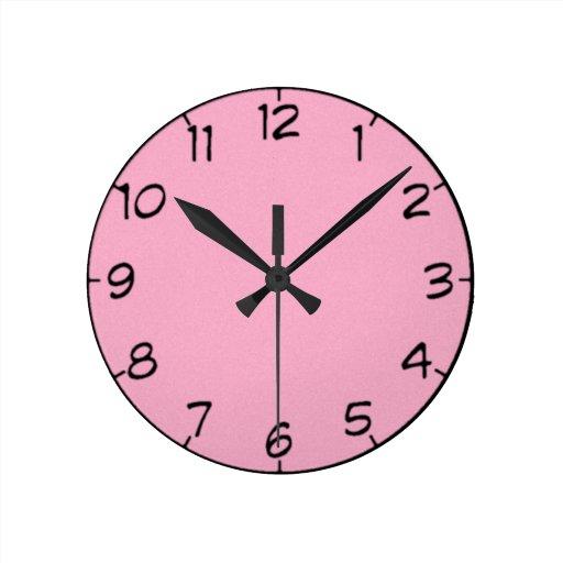 24 sombras de reloj rosado
